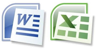 Iconos Word y Excel de MS Office